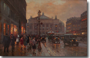 L' Opera Original Painting by Edouard Cortes