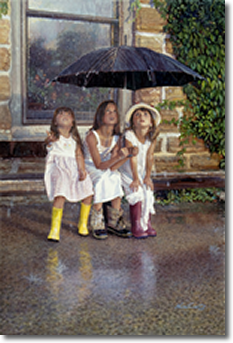 Summer Rain, Original Painting by Steve Hanks