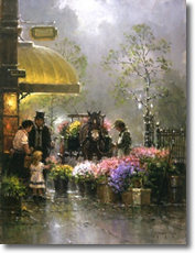 Holiday Flower Shop, Limited Edition by G. Harvey