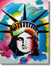 Liberty Head 2011 An Original Painting by Peter Max