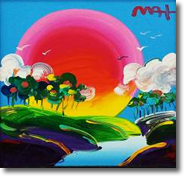 Original Painting, Without Borders 2 by Peter Max