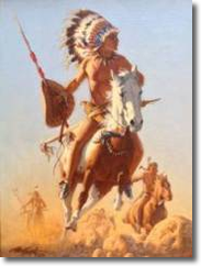 The Chief, Original Oil on Canvas by Frank McCarthy