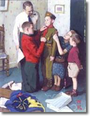 Mighty Proud Study by Norman Rockwell